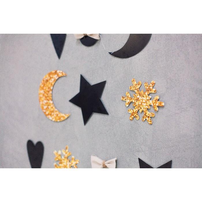 Инсталляция ёлочки в интерьере 'Отблески фейерверков', набор для декора, 21 x 29,7 см - фото 6
