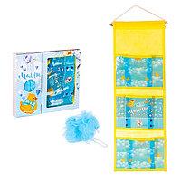 Кармашек для ванной комнаты и мочалка 'Наш малыш'
