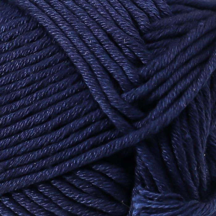 Пряжа 'Muskat' 100 мерсеризованный хлопок 100м/50гр (13 т. синий) - фото 3