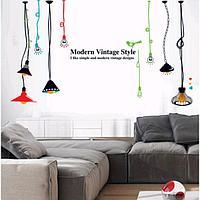 Наклейка пластик интерьерная цветная 'Светильники лофт' 60х90 см