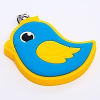 Детские, маникюрные щипчики - книпсеры 'Птичка' с резиновой игрушкой