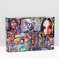 Коробка складная 'Комиксы', 16 x 23 x 7,5 см (комплект из 10 шт.)