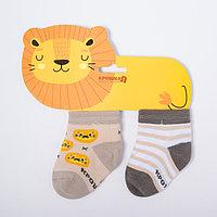 Набор носков Крошка Я 'Львёнок', 2 пары, 8-10 см