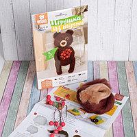 Набор для творчества. Игрушка из шерсти 'Медвежонок с ягодами'