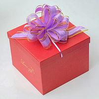 Бант-шар 5 'Узор', цвет сиреневый