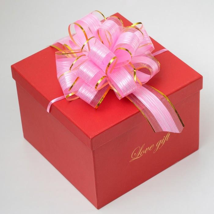 Бант-шар 5 'Узор', цвет розовый - фото 1