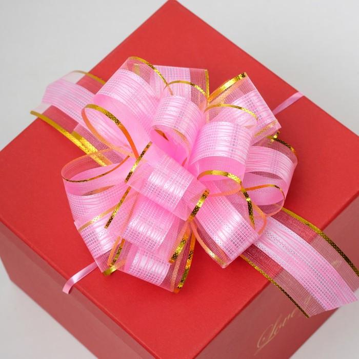 Бант-шар 5 'Узор', цвет розовый - фото 2