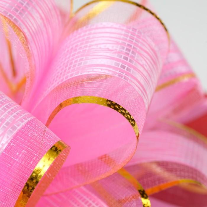Бант-шар 5 'Узор', цвет розовый - фото 3
