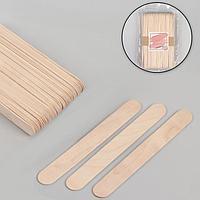 Шпатели для депиляции, деревянные, 15 x 1,7 см, 50 шт