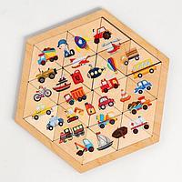 Пазл деревянный 'Транспорт' (Занимательные треугольники)