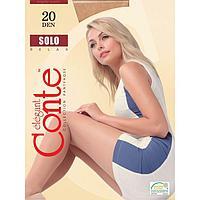 Колготки женские CONTE ELEGANT SOLO 20 den, цвет бежевый (beige), размер 4