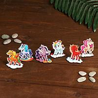 Набор деревянных сувениров 'Маленькие пони 1'