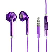 Наушники LuazON VBT 1.2, вкладыши, микрофон, фиолетовые