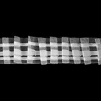 Шторная лента, 3 см, 10 ± 1 м, цвет белый