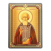Икона 'Святой преподобный Сергий Радонежский', 3D, с клеящейся основой