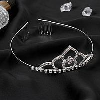 Диадема для волос 'Аделина' обручальное кольцо, 4 см, серебро