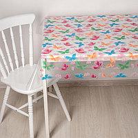 Скатерть без основы многоразовая 'Бабочки', 110x120 см, цвет прозрачный