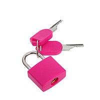 Замок навесной для чемодана, малый, розовый