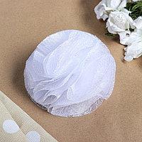 Бант для девочек с резинкой 'Злата' 13 см, белый (комплект из 2 шт.)