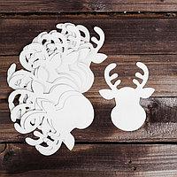 Основа для творчества - новогоднее украшение 'Олень' набор 24 шт.,размер 1 шт 12x15 см