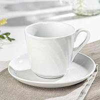 Чайная пара 'Бельё' чашка 220 мл, блюдце d14 см