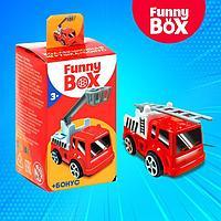Игровой набор Funny Box 'Пожарная техника' карточка, фигурка, лист наклеек