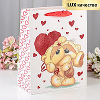 Пакет ламинированный 'Любовь', люкс, 26 х 12 х 32 см (комплект из 12 шт.)