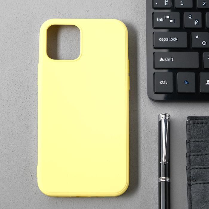 Чехол Activ Full Original Design, для Apple iPhone 12/12 Pro, силиконовый, желтый - фото 1