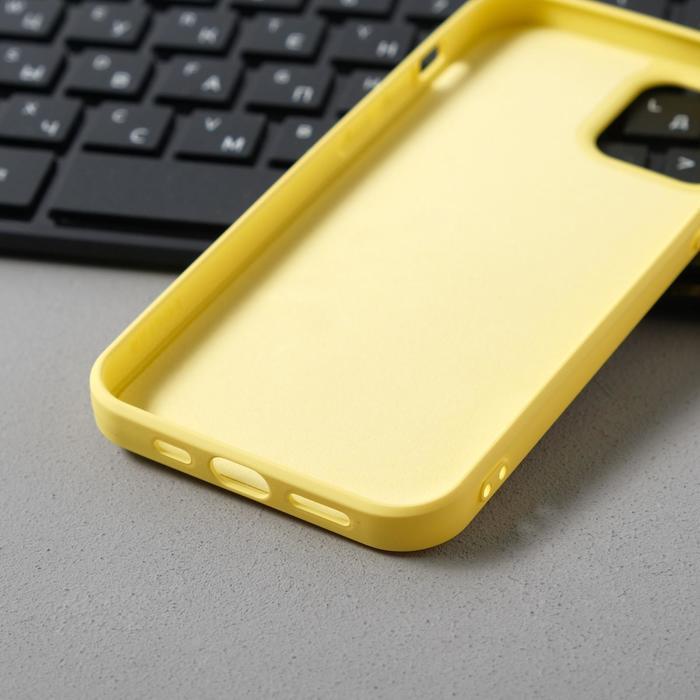 Чехол Activ Full Original Design, для Apple iPhone 12/12 Pro, силиконовый, желтый - фото 3