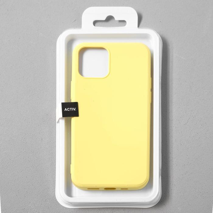 Чехол Activ Full Original Design, для Apple iPhone 12/12 Pro, силиконовый, желтый - фото 4
