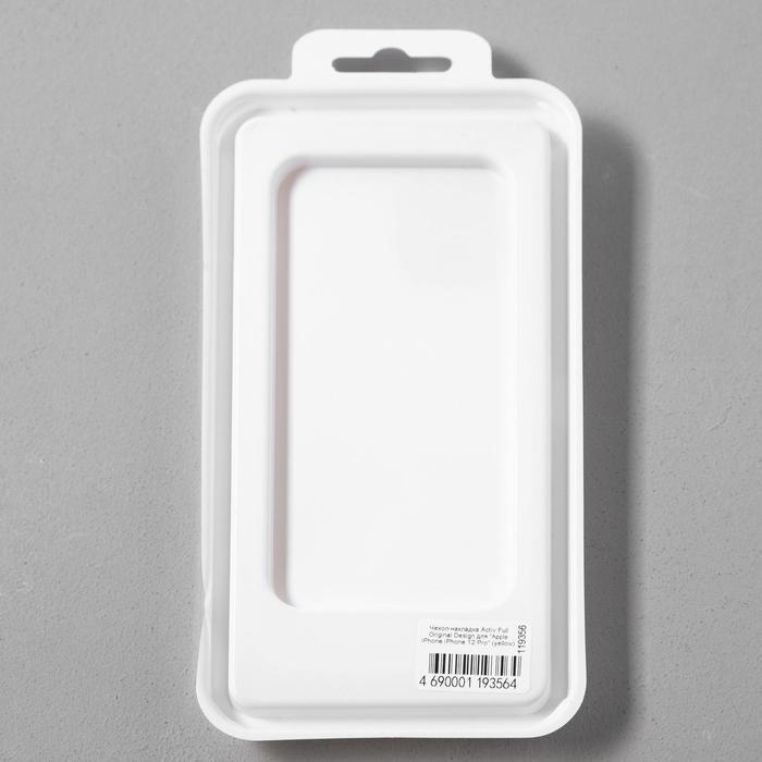 Чехол Activ Full Original Design, для Apple iPhone 12/12 Pro, силиконовый, желтый - фото 5