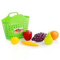 Игровой набор 'Фруктовая корзинка' 7 предметов, цвета МИКС