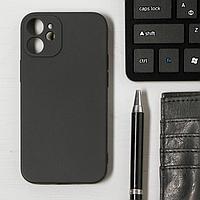 Чехол LuazON для телефона iPhone 12 mini, Soft-touch силикон, черный