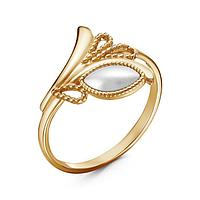 Кольцо 'Жемчуг' лавра, позолота, 19,5 размер