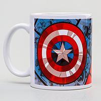 Кружка сублимация'Капитан Америка', Мстители, 350 мл.