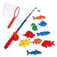 Рыбалка 'Веселая рыбалка' 1 удочка, 9 рыбок, сачок