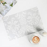 Салфетка кухонная 45x30 см 'Абстракция', цвет белый (комплект из 12 шт.)