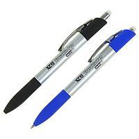 Ручка шариковая со стираемыми чернилами 0,8 мм, автоматическая, стержень синий, корпус серебристый МИКС
