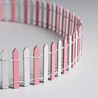 Миниатюра кукольная 'Забор', размер 90x5 см, цвет бело-розовый