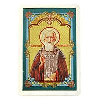 Икона для дома и авто 'Святой Сергий Радонежский', с клеящейся основой