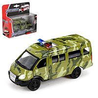 Машина металлическая 'Микроавтобус военный', масштаб 150, инерция