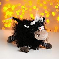 Мягкая игрушка 'Бычок Крейзик', цвет чёрный