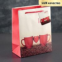 Пакет ламинированный 'Кофе', люкс, 18 х 23 х 10 см (комплект из 12 шт.)