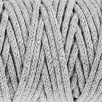 Шнур для рукоделия хлопковый 100 хлопок 4 мм, 50м/140гр (св. серый)