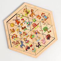 Пазл деревянный 'Ферма' (Занимательные треугольники)