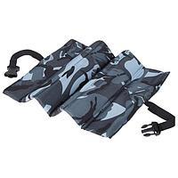 Сиденье туристическое складное с креплением на резинке, 6 деталей, 35 х 28 х 1 см, цвет МИКС