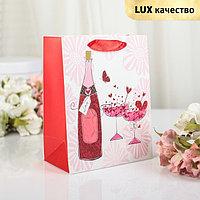 Пакет ламинированный 'Романтик', люкс, 18 х 10 х 23 см (комплект из 12 шт.)
