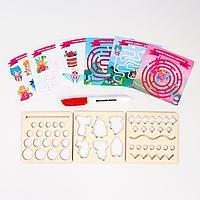 Многоразовые карточки 'Пиши-стирай', мир принцессы
