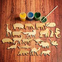 Набор заготовок для творчества 'Животные', 21 шт, размер 6х6 см