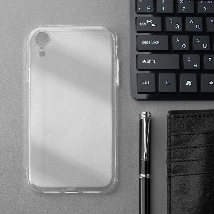 Чехол Innovation, для iPhone XR, силиконовый, прозрачный - фото 1